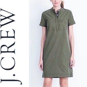 J. CREW Army Green Utility Shirt Dress